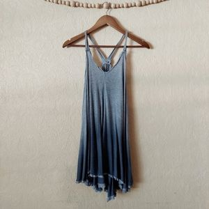 UO Ecote grey ombre oversized tunic tank top XS